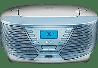 Radio CD - OK ORC 311-BL, Grabadora, MP3, Azul claro