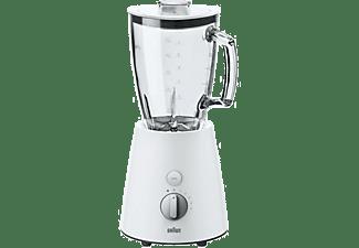 Batidora de vaso - Braun JB 3060 WH Potencia 800W, Vaso de cristal 1.75L, 5 Velocidades