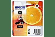 Cartucho de tinta - Epson C13T33414020, Photo negro 33, serie naranja