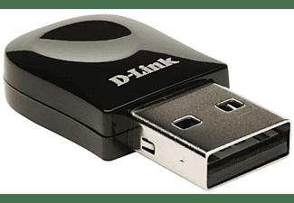 Adaptador Wi-Fi USB - D-Link DWA-131, nano, 300 Mbps, 2.4 GHz, color negro