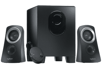 Altavoces para PC - Logitech Speaker System Z313 con subwoofer, Entrada jack 3.5 mm, 25 W, Negro