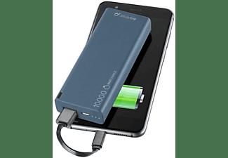 Power bank ultrarrápido Cellular Line Freepower Slim, 10000mAh, Azul