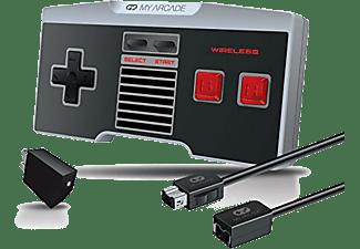 Mando - Dream Gear My Arcade Gamepad, Inalámbrico, para Nes Classic + Cable (Combo Kit)