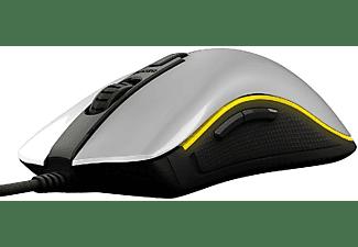 Ratón gaming - Ozone Neon M50, 5000DPI, USB Óptico, Diestro, Blanco