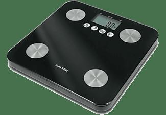 Báscula de baño - Salter 9106 BK 3 R Peso máximo 180Kg, Precisión de 100g, Memoria para 10