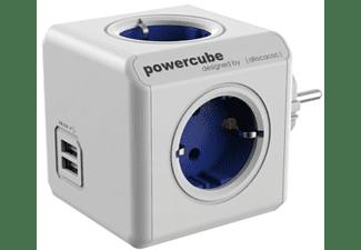 Regleta - PowerCube BXPC1200 Azul, 4 tomas + USB