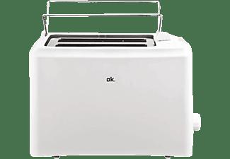 Tostadora - OK OTO 103 W Potencia 750W Capacidad para 2 tostadas de pan de molde