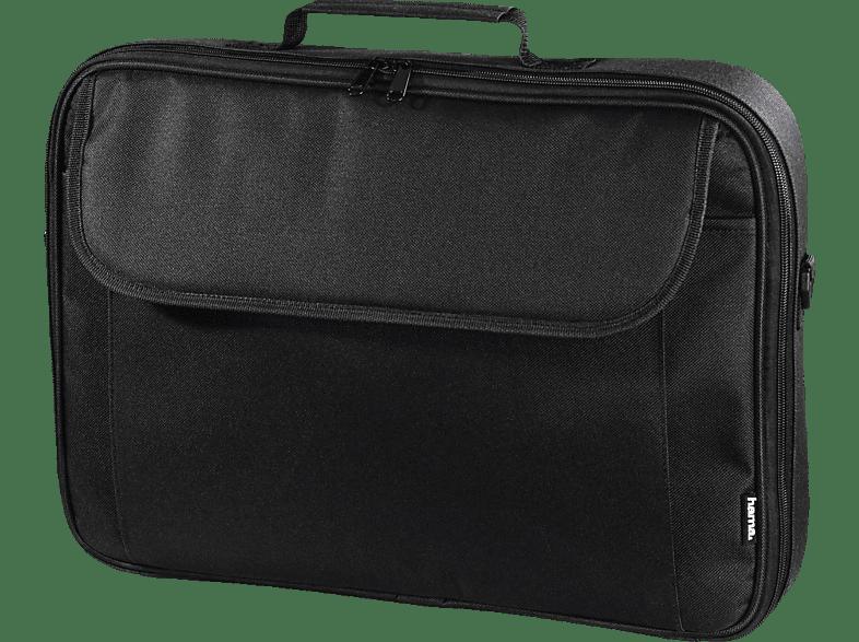 HAMA Montego Notebooktasche, Umhängetasche, 17.3 Zoll, Schwarz