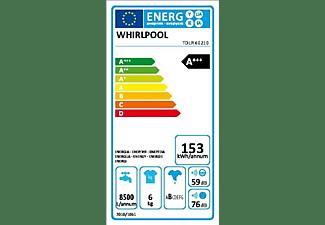 Lavadora carga superior - Whirlpool TDLR 60210, 6Kg, 1000rpm,  6th Sense