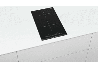 Encimera - Bosch PIB375FB1E, Eléctrica, Inducción, 2 zonas, 21 cm, Negro