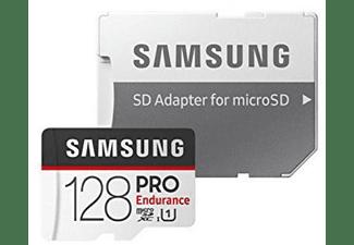 Tarjeta MicroSDHC 128 GB - Samsung Pro Endurance, 100 MB/s, Full HD  o 4K, Clase 10, Blanco