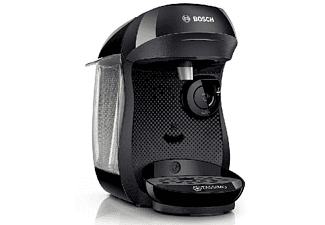 Cafetera de cápsulas - Bosch Tassimo TAS1001 HAPPY, 0,7 litros, Intellibrew, Negro