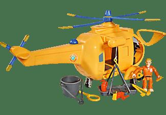 SIMBA TOYS Sam Hubschrauber Wallaby II mit Figur Spielzeughubschrauber, Mehrfarbig