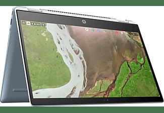 HP Chromebook x360 14-da0300ng, Chromebook mit 14 Zoll Display Touchscreen, Intel® Pentium® Prozessor, 4 GB RAM, 32 GB Flash, Intel® HD-Grafik 610, Blau/Weiß