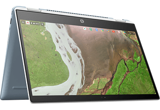 HP Chromebook x360 14-da0300ng, Chromebook mit 14 Zoll Display Touchscreen, Pentium® Prozessor, 4 GB RAM, 32 GB Flash, Intel® HD-Grafik 610, Blau/Weiß