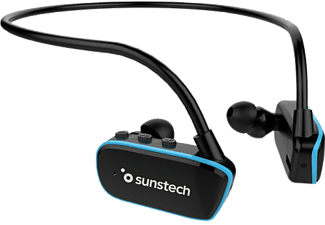 Reproductor MP3 - Sunstech Argoshybrid, 8GB, 7h Autonomía, inalámbrico, Sumergible, Bluetooth, USB, Negro