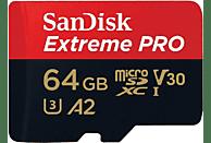 Tarjeta MicroSDXC - Sandisk Extreme Pro, 64 GB, Clase 10, 170 MB/s