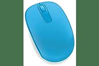 Ratón inalámbrico - Microsoft Wireless Mobile Mouse 1850, Cyan, Nano transceptor Plug-and-go