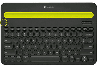 Teclado inalámbrico - Logitech Multi-Device K480, Easy-Switch, Bluetooth, negro