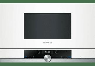Microondas integrable - Siemens BF634LGW1, 21 L, 60 cm, 900 W, Cristal blanco con inox