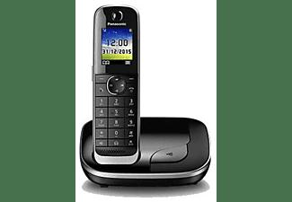 Teléfono - Panasonic KX-TGJ310SPB, Inalámbrico, Manos libres, bloqueo de llamada, Modo ECO, No molestar, Negro