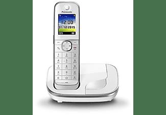 Teléfono - Panasonic KX-TGJ310SPW, Inalámbrico, Manos Libres, Agenda 250, Bloqueo Llamada, No Molestar, Blanco