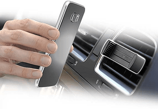 Soporte universal para coche - Cellular Line, negro, ventilación, negro
