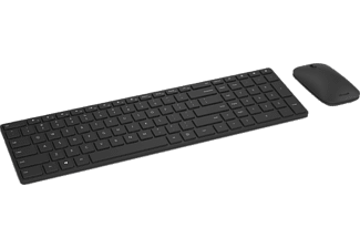 Pack Teclado + Ratón - Microsoft Designer Bluetooth, Inalámbrico, Bluetooth, BlueTrack, Negro