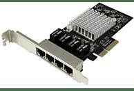 Tarjeta de Red - StarTech.com ST4000SPEXI Tarjeta Red Ethernet Gigabit 4 Puertos RJ45 Chip Intel i35