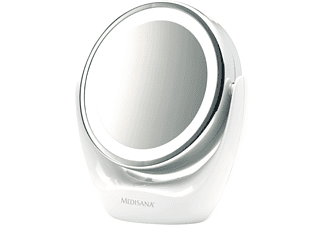 Espejo lumínico - Medisana CM 835, LED, 5 aumentos, Giratorio, Blanco
