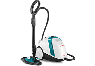 Limpiador de vapor - Polti Vaporetto Smart 100 T, 2min calentamiento, Indicador de vapor, Acero