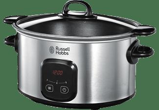 Olla de cocción lenta - Russell Hobbs 22750-56 MaxiCook, 6L, 3 temperaturas, Temporizador, Plateado