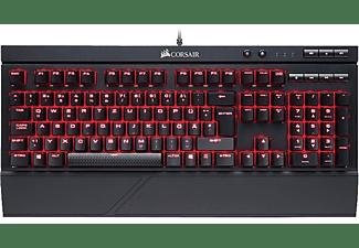Teclado Gaming - Corsair K68, Cable, IP32, Cherry MX Red, Negro