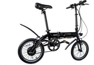 Bicicleta eléctrica - SK8 eBike Beetle, 250W, Plegable, 25km/h, Negro