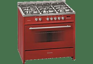 Cocina - Meireles G 910 R, Encimera de gas natural, Inox, 5 Quemadores, Horno 114L, Clase A