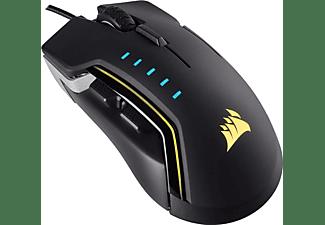 Ratón Gaming - Corsair GLAIVE RGB, USB, Óptico, 16000DPI, mano derecha