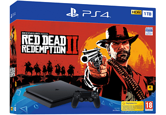 Consola - Sony - PS4 Slim, 1Tb + Juego Red Dead Redemption 2