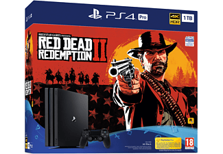 Consola - Sony - PS4 PRO, 1Tb + Juego Red Dead Redemption 2