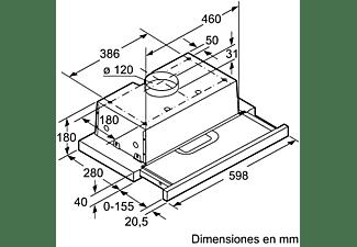Campana - Balay 3BT263MB, Extraíble, 3 potencias, 360m³/h, Blanco