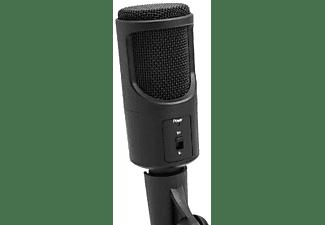 Micrófono - Woxter Mic Studio 50, Soporte, 38 dB, USB, Negro
