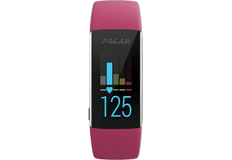 Pulsera de actividad - Polar A370, Sumergible, GPS, Bluetooth, Talla S, Rosa