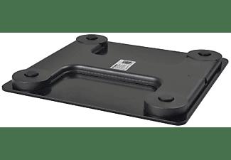 Báscula de baño - NK, Peso máximo 180 Kg, Con bluetooth, LCD, 6 estadísticas, Negro