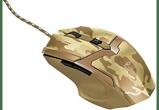 Ratón gaming - Trust GXT 101D GAV, USB, Óptico, 600-4800 ppp, Desert Camo