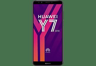 Móvil - Huawei Y7 2018, 5.99'' HD+, Procesador Qualcom Snapdragon 430, 16 GB, 2 GB RAM, 8 + 13 MP, Triple SIM, 4G, Batería 3000 mAh, Negro