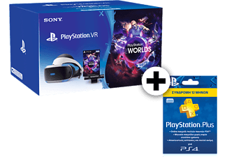 SONY PlayStation VR Headset and Camera V2 and VR Worlds and PS Plus 365
