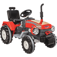 JAMARA KIDS Ride On Traktor – Power Drag Kinderelektrotraktor Rot