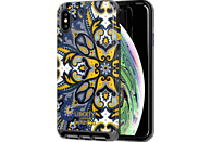 TECH21 Evo Luxe Marham Liberty , Backcover, Apple, iPhone XS Max, Kunstleder, Blau