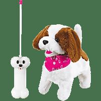 JAMARA KIDS RC Plüschhund Lucky RC Hund, Weiß/Braun