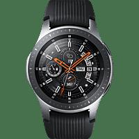 SAMSUNG  Galaxy Watch 46 mm LTE Smartwatch Edelstahl, Silikon, S, L, Silber