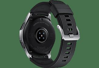 SAMSUNG Galaxy Watch 46 mm LTE Smartwatch Edelstahl Silikon, S, L, Silber
